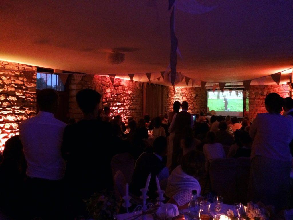 éclairage ambiance salle réception mariage