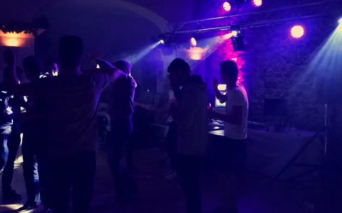 Rendu de l'éclairage lors du week-end d'intégration de l'Istia à Angers
